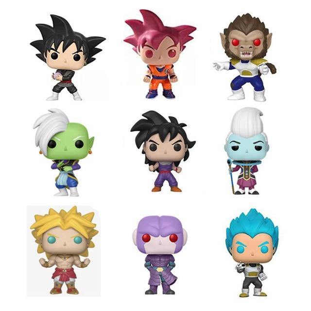Funko pop Amina Dragon Ball Goku Vegeta Action Figure Collectible Modelo de Vinil Brinquedos para crianças com caixa original