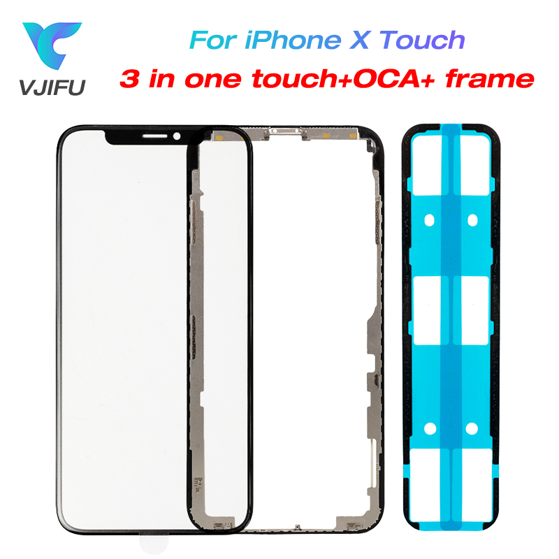 10pcs/lot New For iPhone X Touch Glass Screen Panel + OCA + Frame Bezel for iPhone X LCD Outer Glass Cover Lens Repair Parts10pcs/lot New For iPhone X Touch Glass Screen Panel + OCA + Frame Bezel for iPhone X LCD Outer Glass Cover Lens Repair Parts