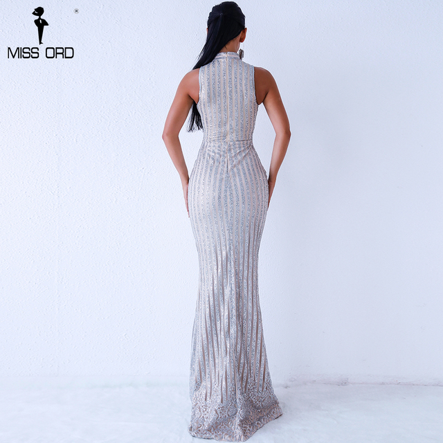 Missord 2019 Sexy Summer o neck sleeveless glitter dress Evening Elegant Party maxi Dresses FT18302 2