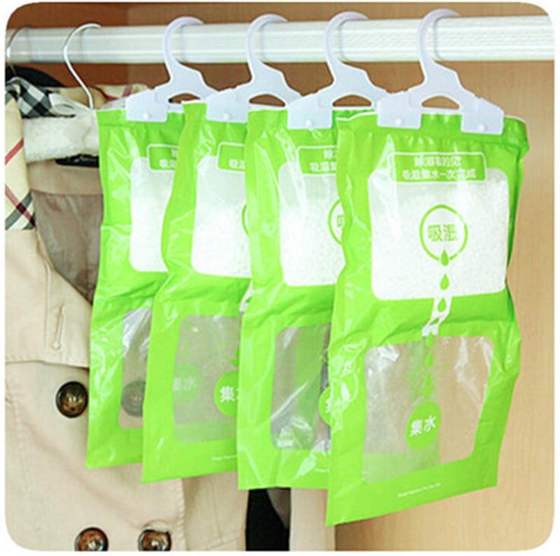 3pcs/lot Hanging Drying Clothes Dehumidify parts Home Wardrobe Dehumidifier Desiccant dehumidifier Dry Bag the wardrobe desiccant dehumidifier to remove odor