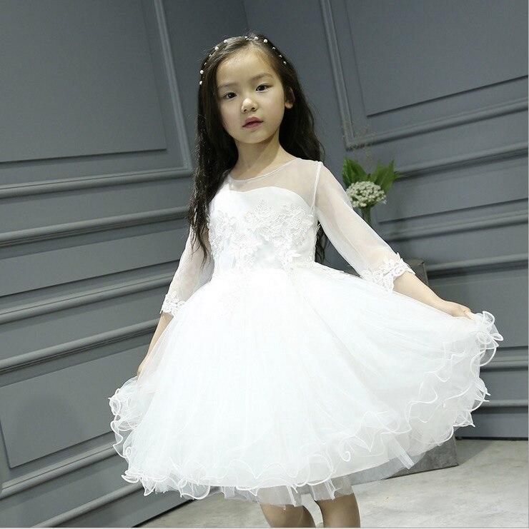 Popular Girls White Dresses Size 8-Buy Cheap Girls White Dresses ...