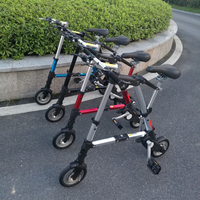 Горячая распродажа 10 ''10 дюймов велосипед складной велосипед мини ультра легкий маленький велосипед Mtb черный/белый/красный/синий складной