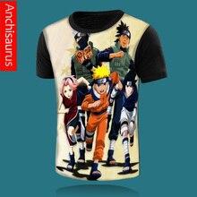 new anime NARUTO men's t shirt Uzumaki Naruto Uchiha Sasuke Haruno Sakura japan cartoon men t-shirt classic o-neck fitness tee