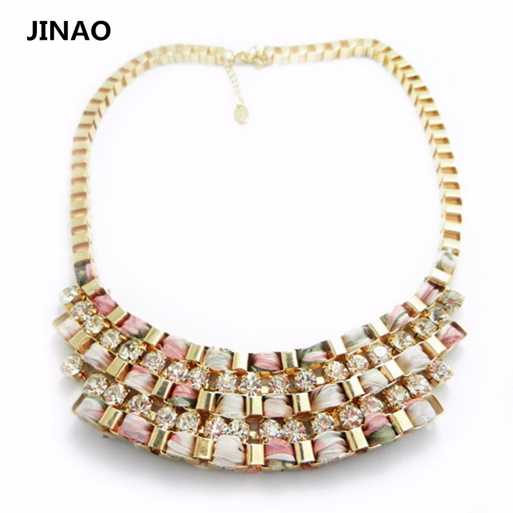 Jinao Jewelry <font><b>Special</b></font> Offer Accessories 2015 Fashion <font><b>Cup</b></font> Chain with Crystals And Yarn Twisted <font><b>Link</b></font> Welded Necklace <font><b>for</b></font> Women.