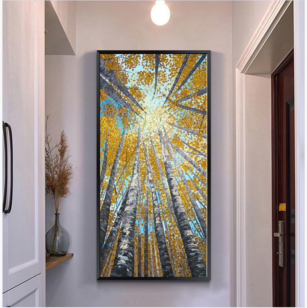 gran vertical moderna pintura decorativa cuadros de arte abstracto de acrlico paisaje lienzo de pintura de