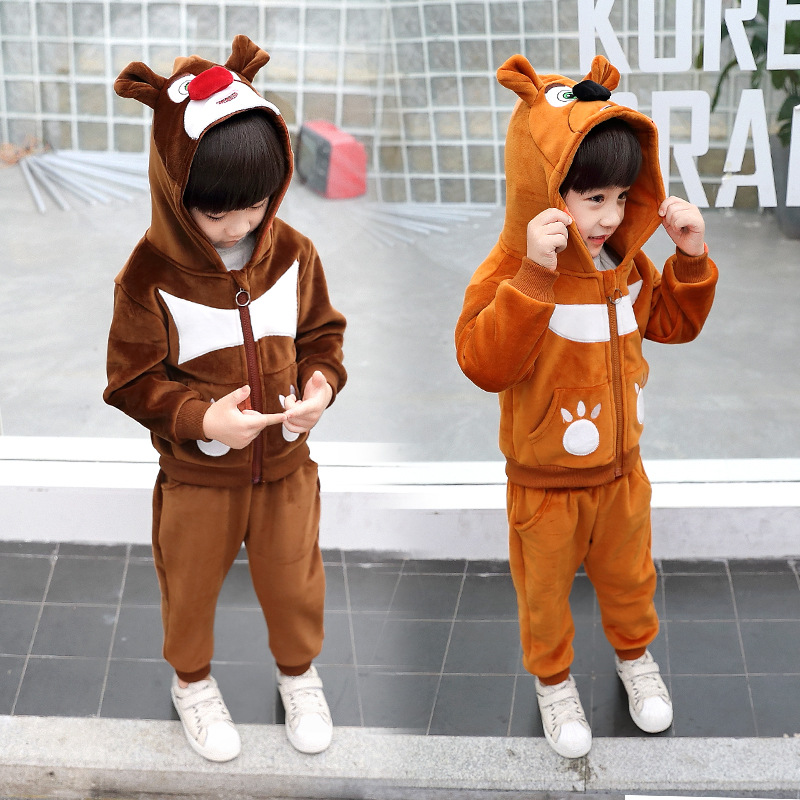 2019 New childrens clothing Velvet top and pants 2 pieces Clothing Sets for Boys Kids clothes2019 New childrens clothing Velvet top and pants 2 pieces Clothing Sets for Boys Kids clothes