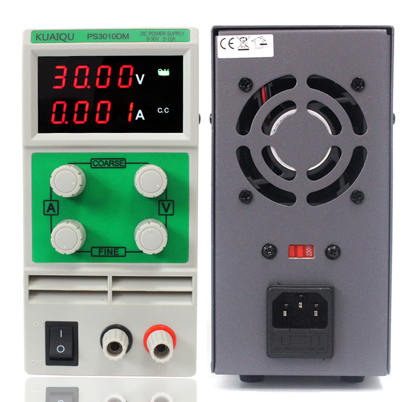 Mobile repair power supply 30V 10A automatic protection of high-precision digital signal test adjustable DC regulator source220V kuaiqu high precision adjustable digital dc power supply 60v 5a for for mobile phone repair laboratory equipment maintenance