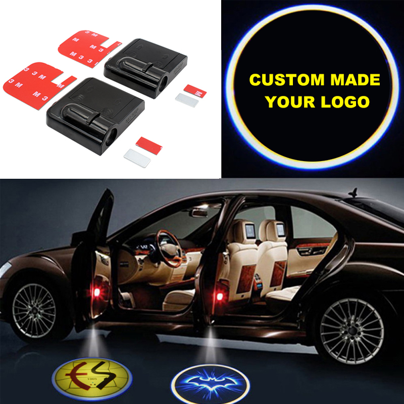 Custom Made 2pcs LED Door Warning Light Wireless Car Logo Door Light Car Door Lights Logo Welcome Projector Car Shadow Led Light cheap 10w led ceiling mounted gobo projection projecteur logo advertising custom advertising projector light