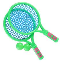 1 Pair Children Tennis Rackets Portable Sports Badminton Rackets for Pupil Toddlers Kids(China)