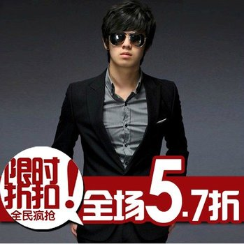 Korean version of the suit business career to marry the groom suit the trend of men's self-cultivation AS61