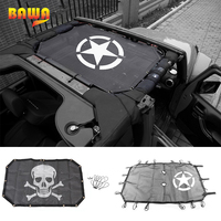 BAWA Car Covers For Jeep Wrangler 2007 2017 JK Sun Shade Roof Top Mesh UV Proof Insulation Net Automatic Car Covers