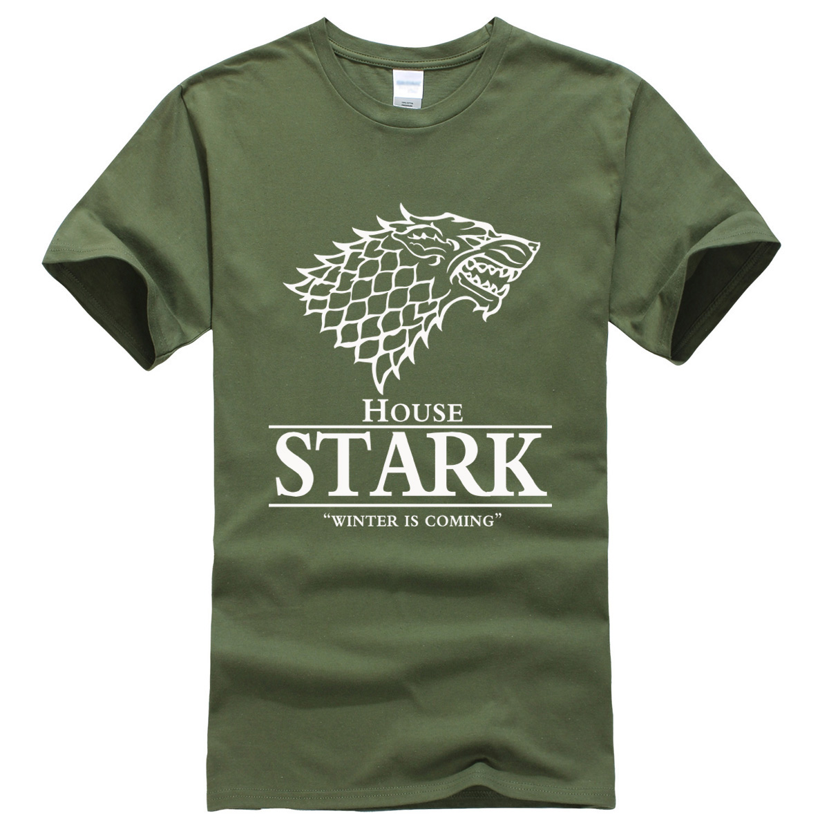 T-shirt 2017 summer House Stark printed mens T-shirts The Song of Ice and Fire Winter Is ...