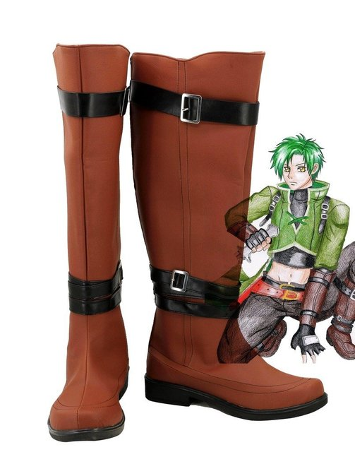 Fire Emblem: Radiant Dawn Sothe Cosplay Shoes Boots Custom Made Brown
