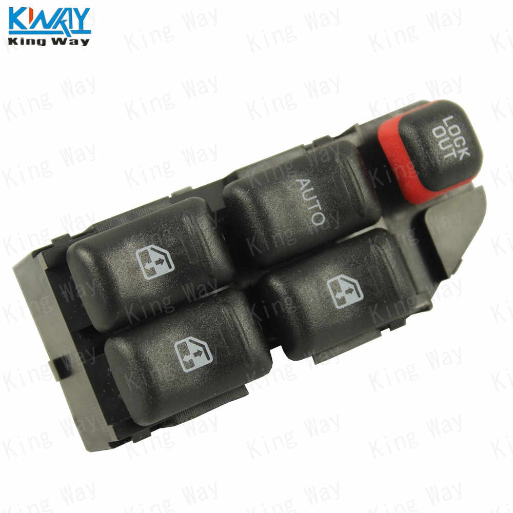 FREE SHIPPING-King Way-  Power Master Window Push Button Switch Front Driver Side Fits 97-05 Malibu