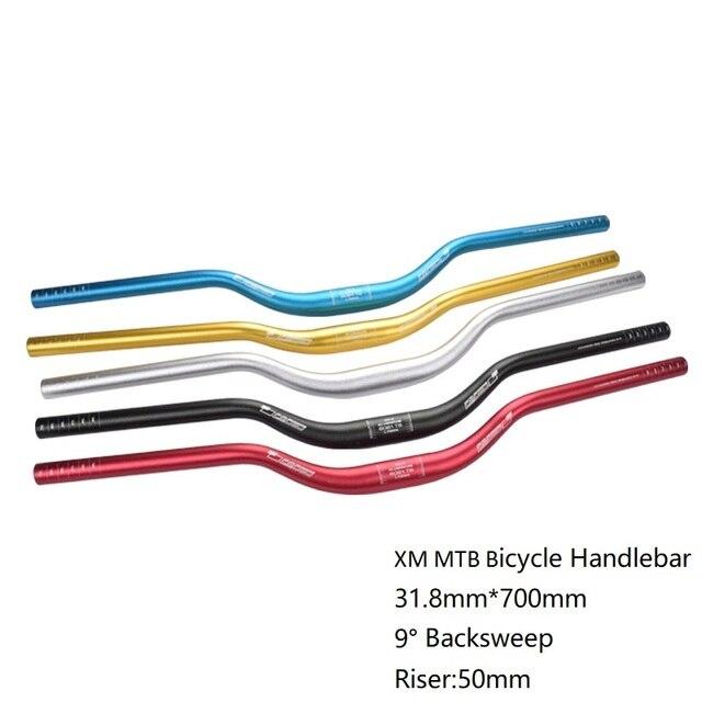 XM دراجة دراجة المقود الناهض المقود 31.8 مللي متر * 700 مللي متر الألومنيوم دراجة جبلية ارتفاع بار سميكة أنبوب 9 درجة Backsweep
