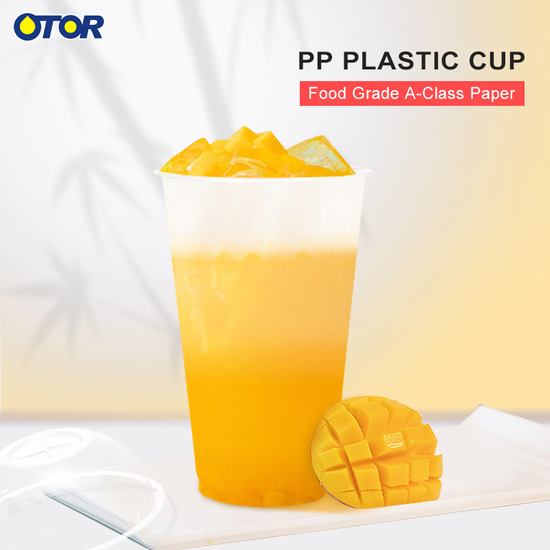 Wholesale 10pcs 12oz 16oz 17oz Clear Disposable Plastic Tea Cup Coffee Cups with Lids for Iced Coffee Bubble Boba Smoothie