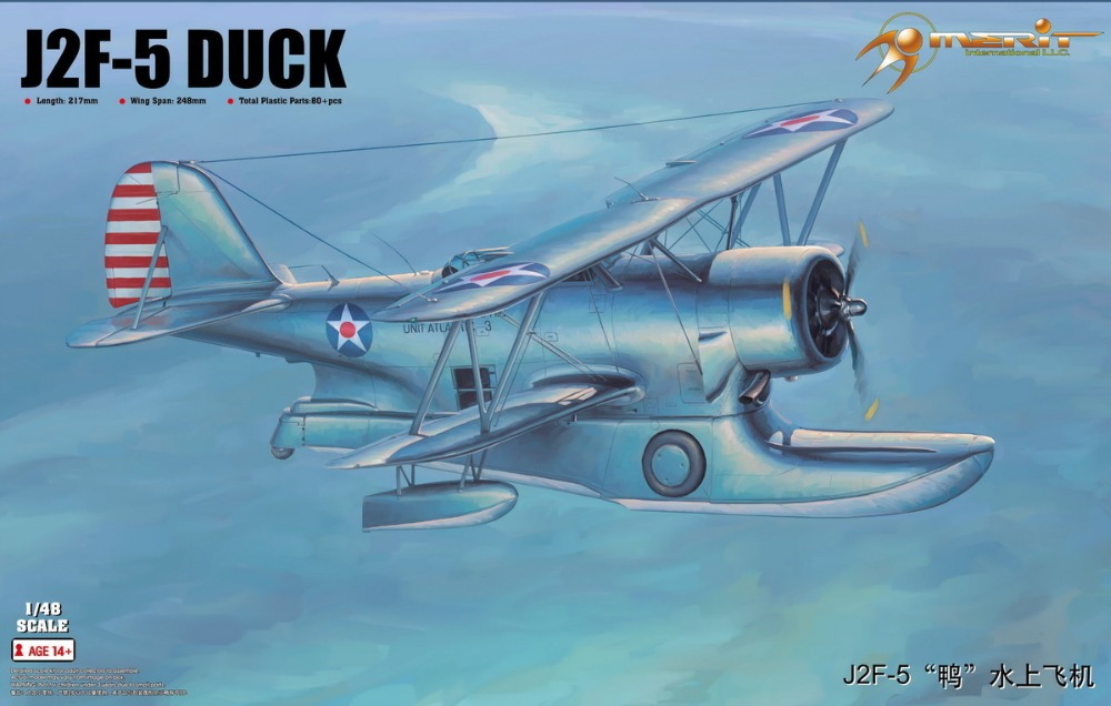 Trumpet 64805 1:48 American J2F-5 duck water plane Assembly model assembly model trumpet 1 72 not 6 march water plane