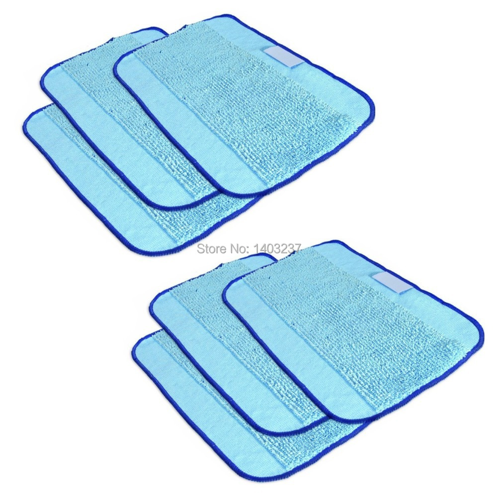 6-Pack Microfiber Cleaning Cloths,Pro-Clean Mopping Cloths for Braava Floor Mopping Robot 380 380T 320 Mint 4200 4205 5200 5200C цена