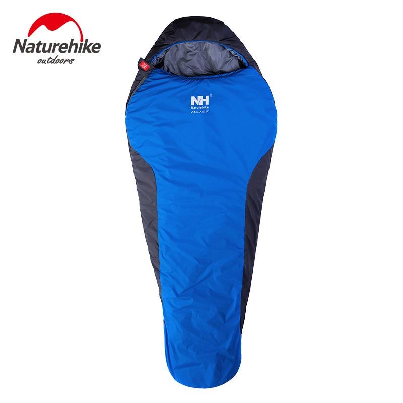 NatureHike 2 Couleurs de Couchage Momie Sac 2200x830mm Camping sac de Couchage Randonnée Automne Hiver Garder Au Chaud Laybag Paresseux sac 1100g