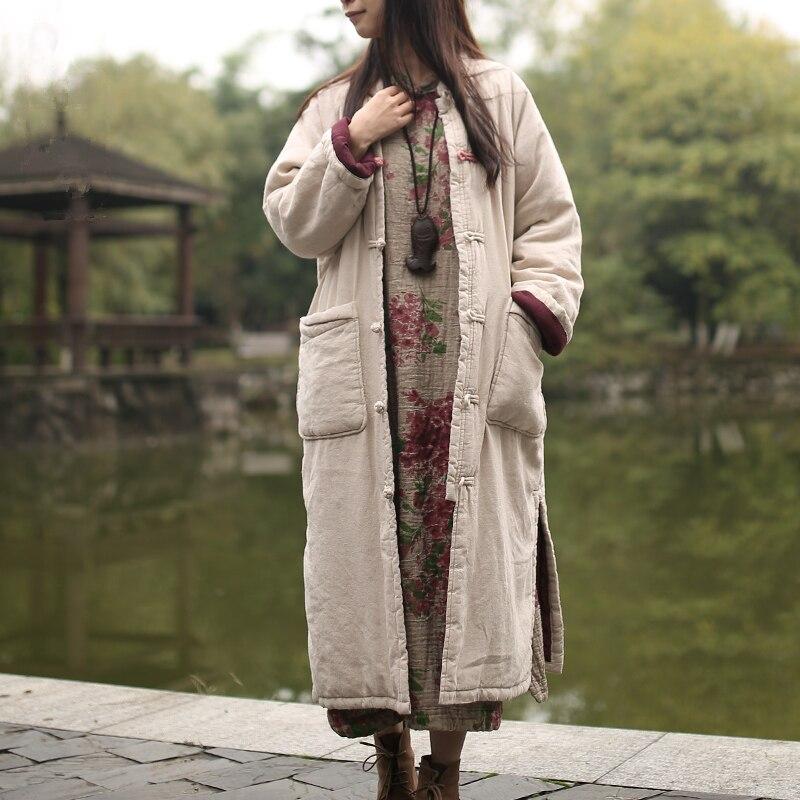 Здесь можно купить  Sacos Mujer Invierno  Parkas For Women Winter Jacket Warm Overcoat Cotton-padded Chinese Traditional Jacket Manteau Femme  Одежда и аксессуары