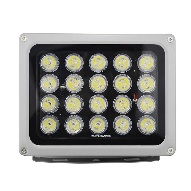 20Pieces White Night Vision Fill Illuminator Led Light AC 220V 850nm Long Range Lamp Lights for Surveillance Security Camera