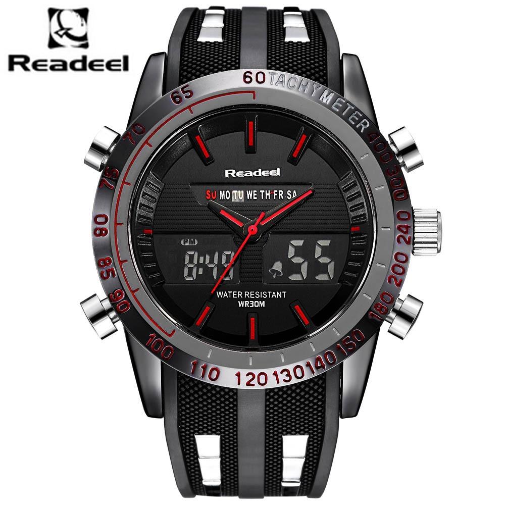 Fashion Brand Men's Sport Watch LED Quartz Army Military Watches Swim Outdoor Men Waterproof Wristwatches Relogio Masculino 2017