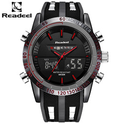 Fashion Brand Men's Sport Watch <font><b>LED</b></font> Quartz Army Military Watches Swim Outdoor Men Waterproof Wristwatches relogio masculino 2017