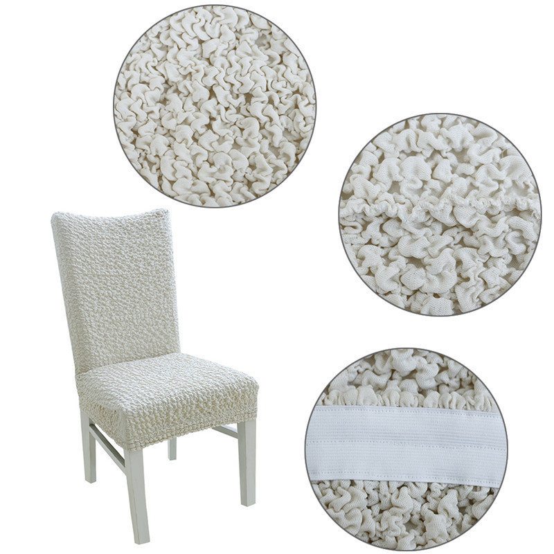 High End Dining Chair Cover Elastic Stretch Removable Cotton Blended Seat
