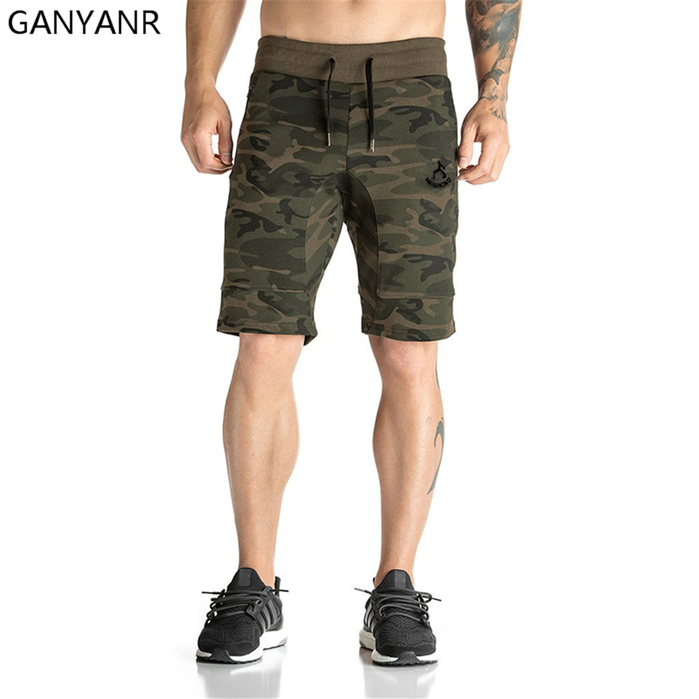 GANYANR Running Shorts Men Gym Basketball Sport Athletic Leggings Fitness Boxer Soccer Marathon Tennis Crossfit Volleyball Gay