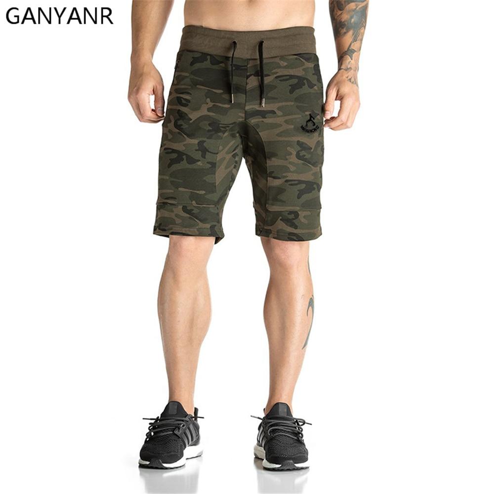 GANYANR Running Shorts Men Gym Basketball Sport Athletic Leggings font b Fitness b font Boxer Soccer