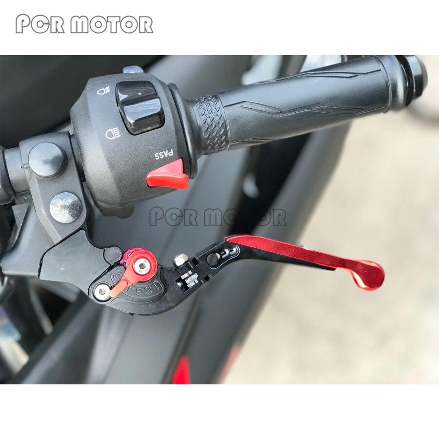 accessoires de moto CNC pliable extensible leviers de frein dembrayage pour Ducati Magazine Carbon 2011 2015