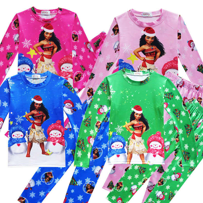 96efa07b8aa5 Children Clothes Set Christmas Moana Party Costume Baby Girls Autumn Winter  Vaiana Long Sleeve Warn Christmas