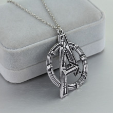 New fashion movie necklace pendant Avengers letter A exaggerated retro sweater chain jewelry