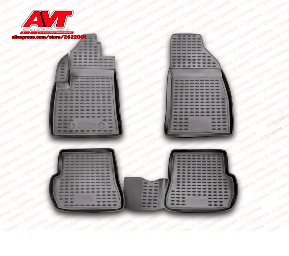 Floor mats case for Ford Fusion 2002- 4 pcs rubber rugs non slip rubber  interior