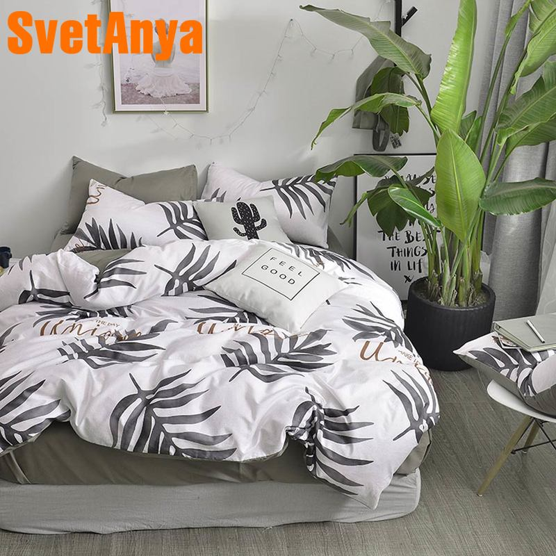 Svetanya Cotton Quilt Cover Sheet Pillowcase 4in1 Bedding set