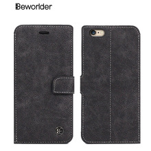 Beworlder For Apple iphone 6S Case iphone 6 Plus Card Slot Wallet Leather Case High Quality Vintage For iphone 6S Plus