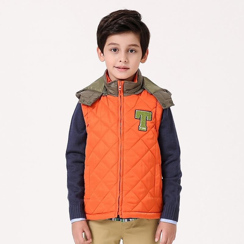 ФОТО Hot Sale Children Vest  Winter Boys Vest  Baby Warm Korean Children Vest Children Yellow Jackets Boy Fashion Cotton Clothing