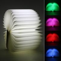 ITimo LED Night Light Folding Book Light USB Port Power Foldable Pages Home Table Desk Lamp