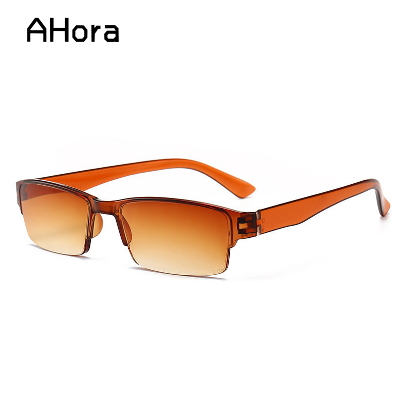Ahora Half Frame Presbyopic Reading Glasses Men Women Retro Ultra-light Resin Presbyopia Eyeglasses Eyewear +1.0 1.5 2.0 2.5 3.0