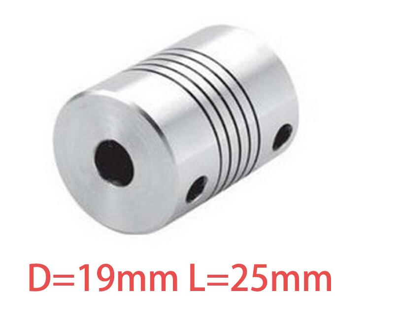 1pcs 5x8mm CNC Motor Jaw Shaft Coupler 5mm To 8mm Flexible Coupling OD 19x25mm wholesale Dropshipping 4/ 5/6/6.35/8/9.5/10/12mm