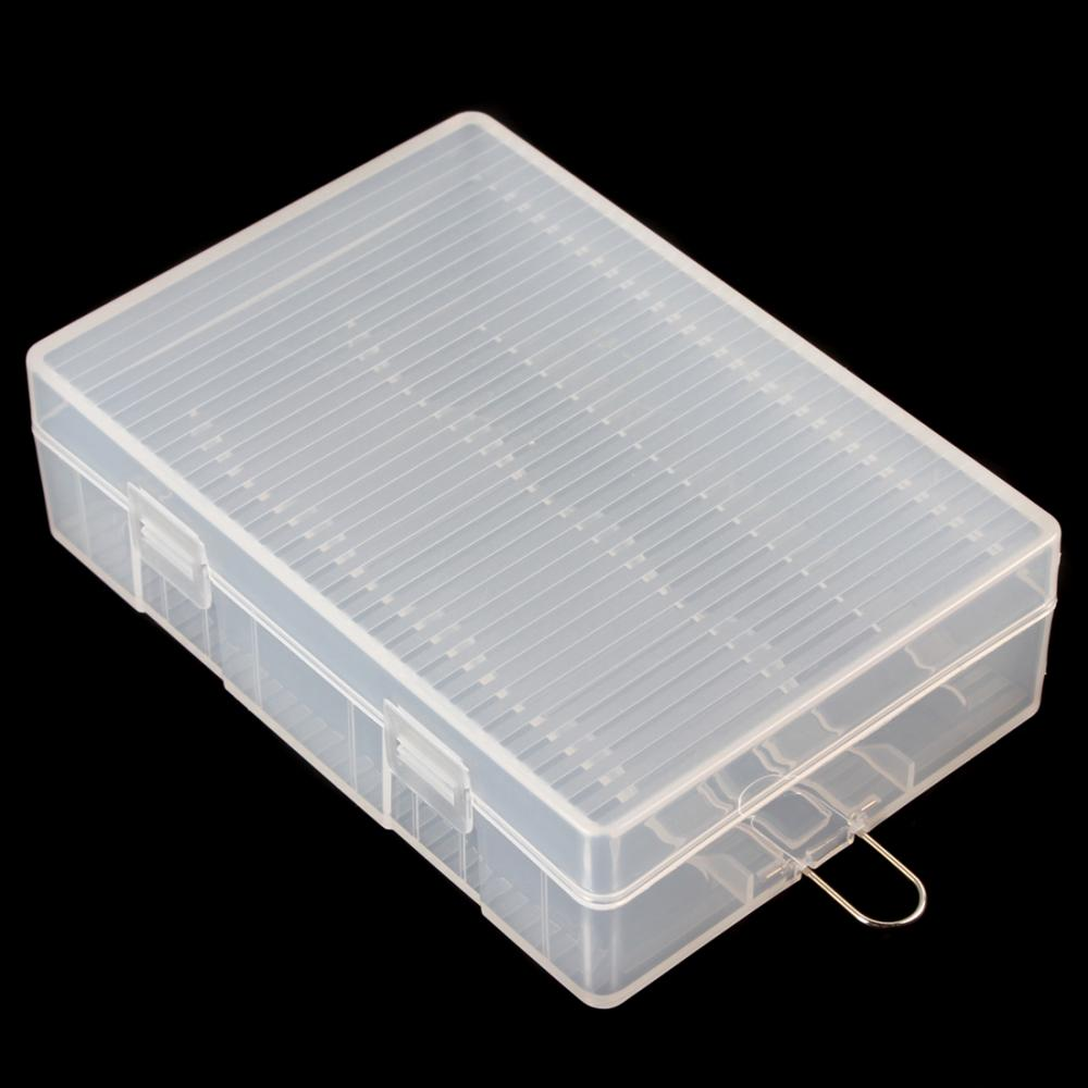 Portable Hard Plastic Battery Case Holder Storage Box For 4 X 26650 Battery Container Organizer