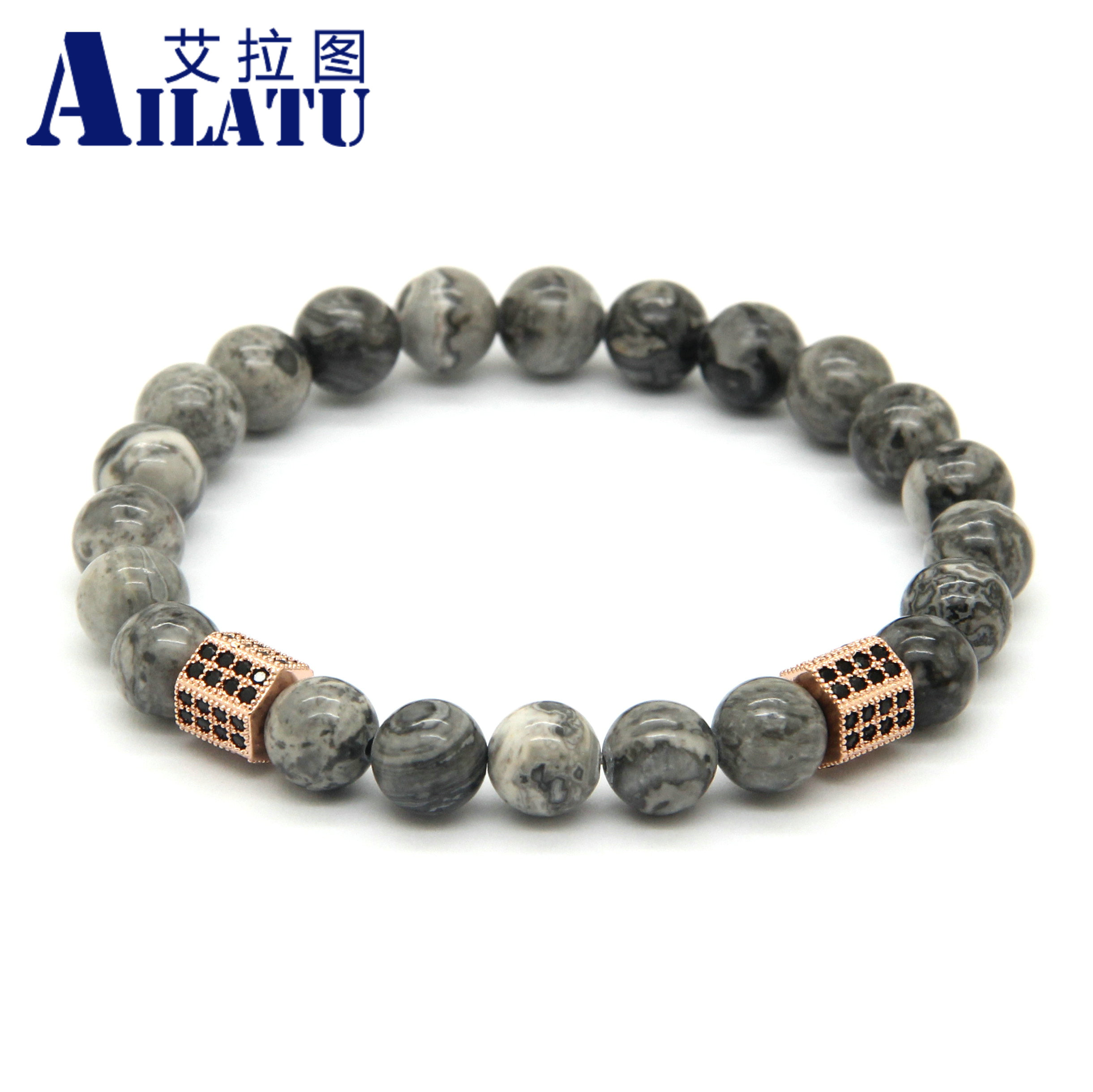 with products s mens stretch stone men antiqued bracelet polished stainless finish steel crucible bead collections beaded clasp dragon