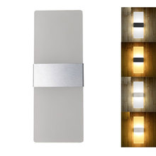 LED Wall Light Bedroom Bedside Light Living Room Balcony Aisle Wall Lamp Corridor Wall Sconce Lamp 85-265V недорого