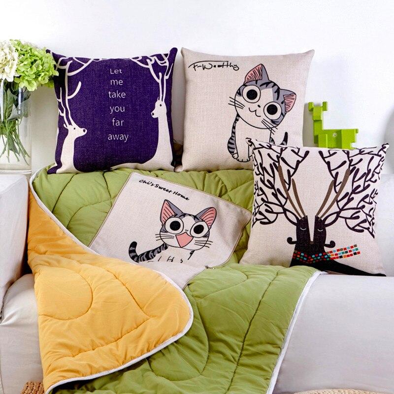 1Pcs Fashion 2 in1 Multifunction Cartoon Cotton linen Folding font b pillow b font font b