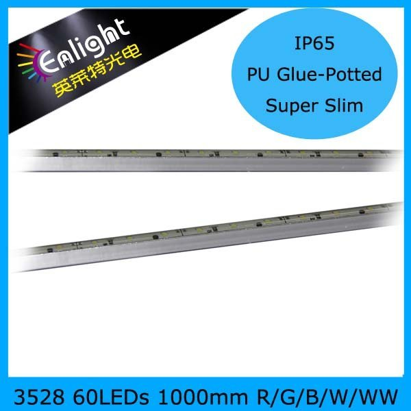 1000mm SMD3528 60PCS IP65 Waterproof LED Rigid Strip 12V DC Red/Green/Blue/Yellow/CW/WW/NW 20PCS/lot free ship 3 Year warranty!