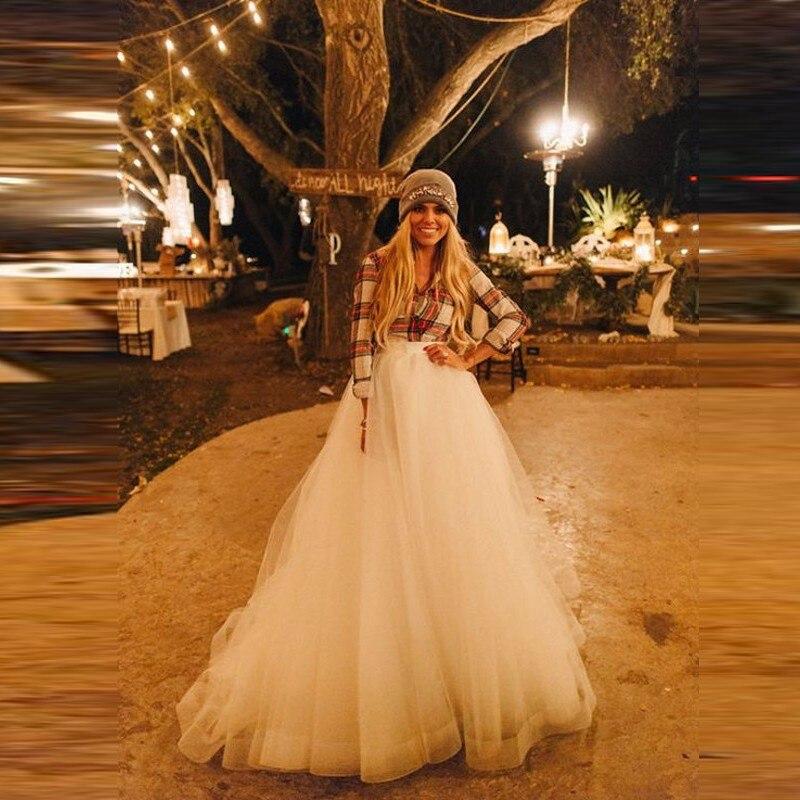 Línea Completa Tulle Faldas Mujeres Encargo Top Longitud Beige Una Por Moda Maxi De Piso Puffy Falda Blanco Del Tutu aqSSBnvX