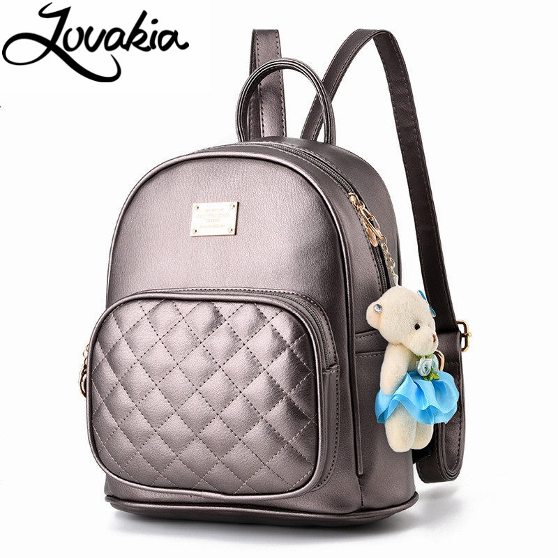 LOVAKIA brand 2017 solid high quality pu leather backpack women designer school bags for teenagers girls luxury women backpacks women backpack simple style school bags for teengaers girls famous designer solid ladies high quality female leather backpacks