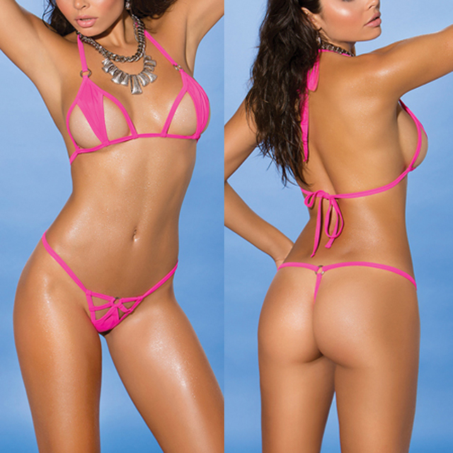 Pink/Black String Micro Brazilian Mini Bikini