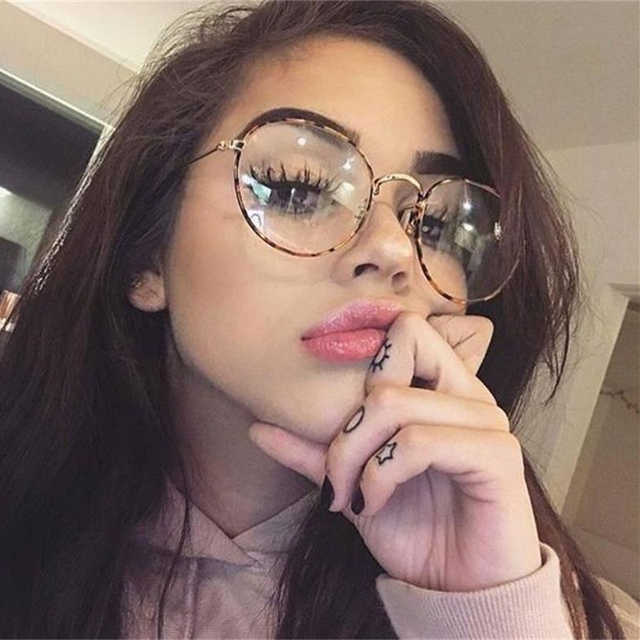 4379968ec5 Metal Transparent Round Glasses Clear Lens Prescription Eyewear Men s  Glasses Myopic Vintage Retro Eyeglass Decorative Female