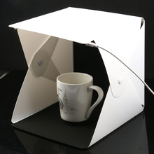 מיני מתקפל Lightbox צילום צילום סטודיו Softbox 2 פנל LED אור רך תיבת תמונה רקע ערכת אור תיבת עבור DSLR מצלמה